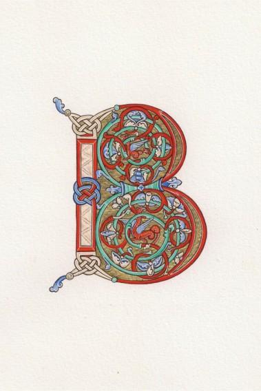 initiale B_Psautier_Eadwine
