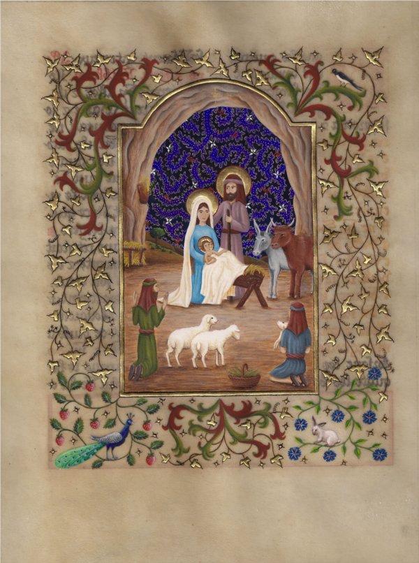 Nativité | Lux et Lumen – Atelier d'enluminure